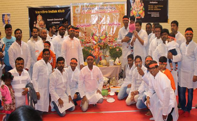 Ganpathi utsavalu held in Denmark by TAD - Sakshi