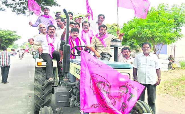Pragathi Nivedana Sabha Warangal TRS Leaders - Sakshi