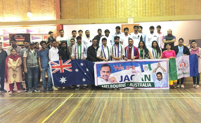 NRIs Pay Tribute To YS Rajasekhara Reddy On His Death Anniversary In melbourne - Sakshi