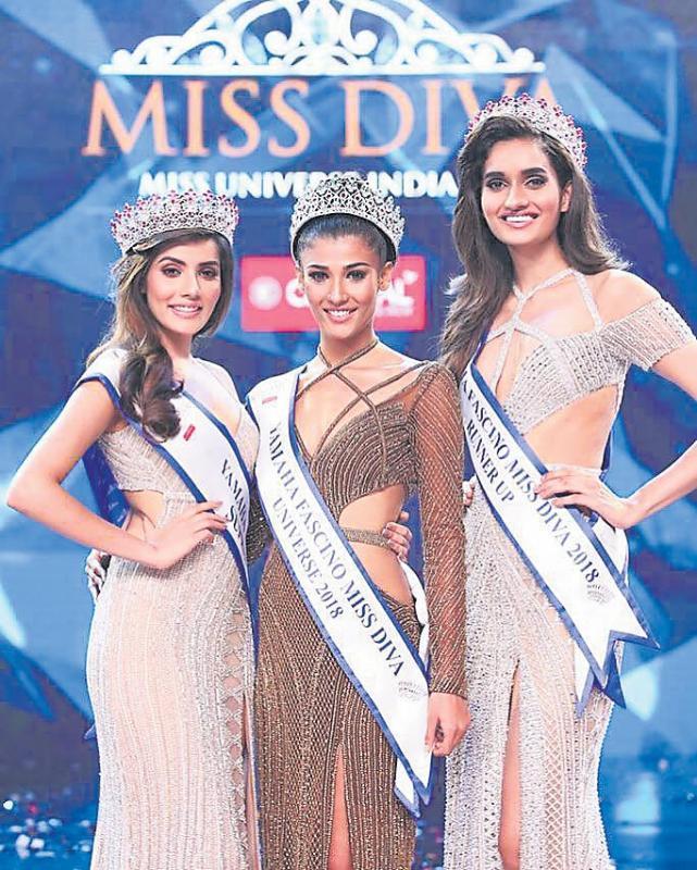 Mumbai girl Nehal Chudasama crowned Miss Diva Miss Universe 2018 - Sakshi
