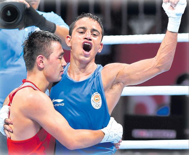 Asian Games 2018: Amit Panghal bags gold in mens boxing - Sakshi