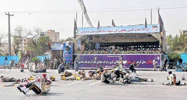 Gunmen kill 25, including 12 Revolutionary Guards, in attack on Ira - Sakshi