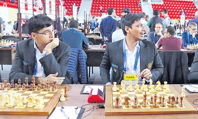 Chess Olympiad: Indian men defeat Canada - Sakshi