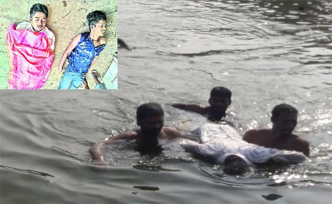Young Mans  Died Krishna River Gadwal - Sakshi