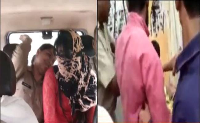 New Video Of Meerut Woman's Muslim Friend Being Beaten As Cop Watches - Sakshi