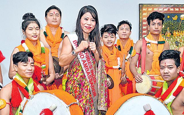 Mary Kom named brand ambassador of Tribes India - Sakshi