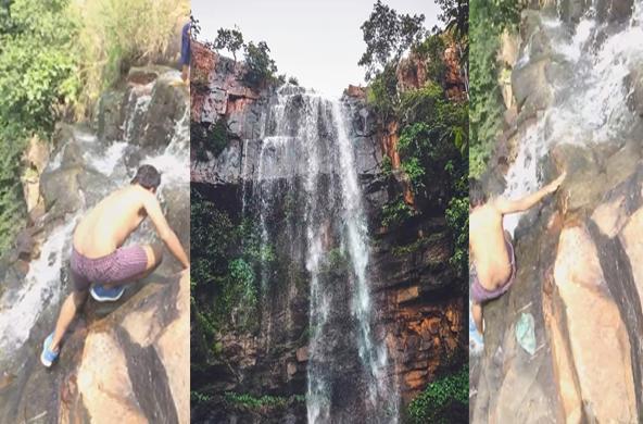 Student Fell down from Deodarah Hill Nalichuan waterfall - Sakshi