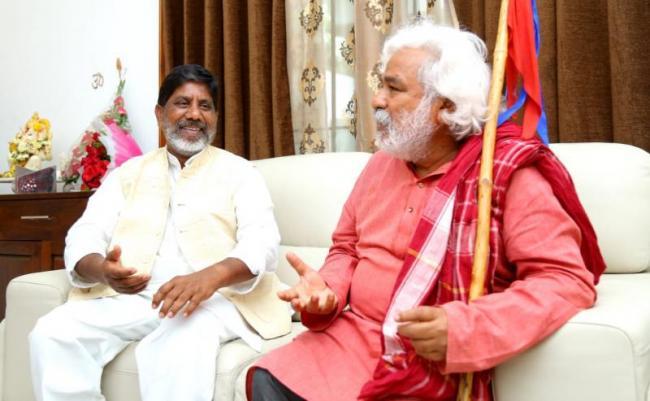 Gaddar Meets Bhatti Vikramarka - Sakshi