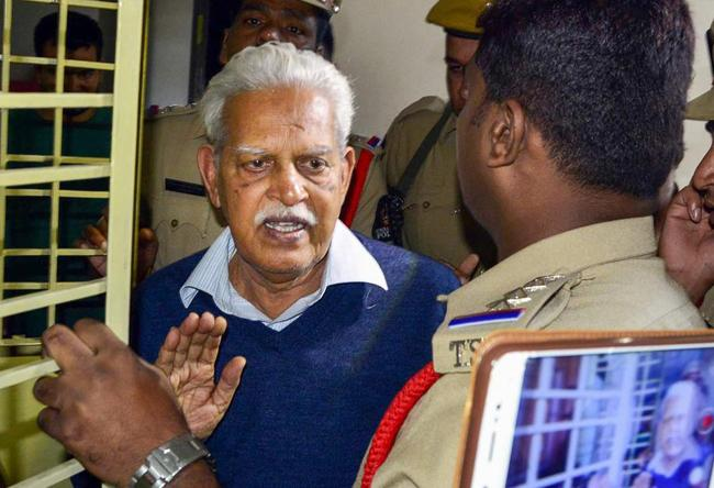 Varavara Rao Echo Cases He faced Never Been Found Guilty Of - Sakshi