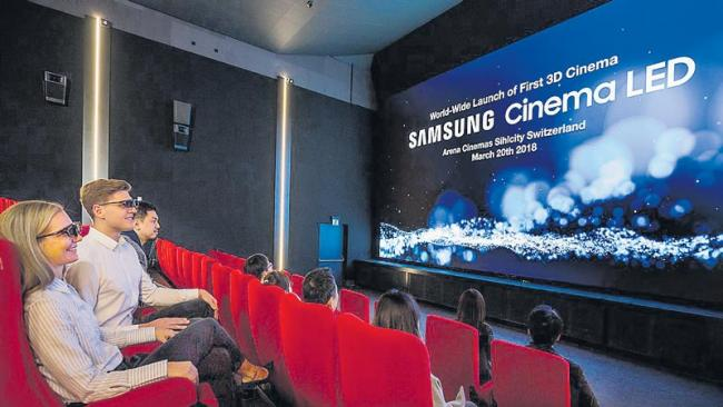 India gets its first LED cinema screen from Samsung at Delhi PVR - Sakshi