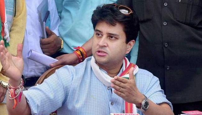 BJP MLAs Son Threatens To Shoot Jyotiraditya Scindia - Sakshi