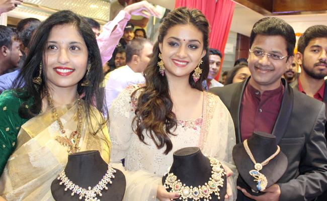 Keerthy Suresh Launch AVR Jewellery Shoroom In Karnataka - Sakshi