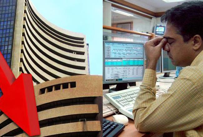 Sensex Falls Over 300 Points, Rupee Hits Fresh Record Low - Sakshi