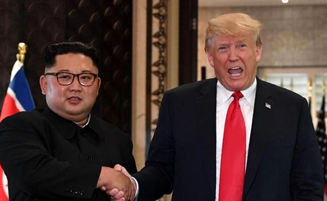 Donald Trump Says I Fell in Love With Kim Jong Un - Sakshi