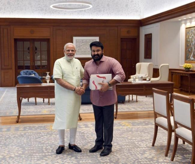 Mohanlal May join BJP, his Meeting with PM Modi sets off rumours - Sakshi