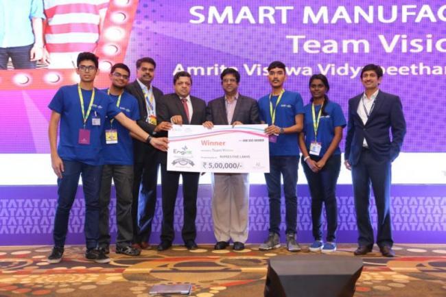 Amrita Vishwa Vidyapeetham Students Win TCS EngiNX 2018 - Sakshi