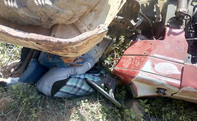 Tractor Driver Was Killed In Road Accident - Sakshi