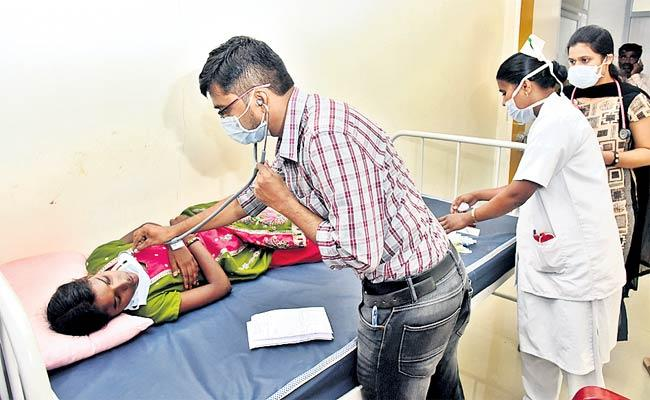 Kasthurba Students Suffering From Cough - Sakshi