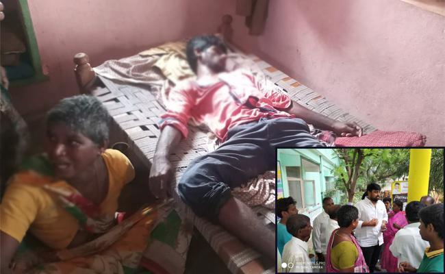 TDP Activists Attack on Villagers Krishna - Sakshi