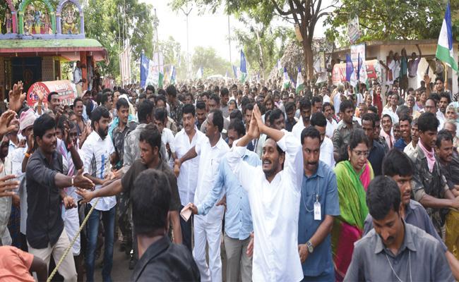 Today Praja Sankalpa Yatra in Pendurthi Constituency - Sakshi