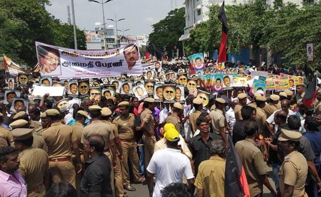 Alagiri Silent Rally In Chennai - Sakshi