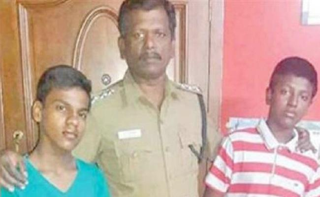 Chennai Police Adopts Boy The Son Of Murder Victim - Sakshi