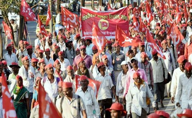 Farmers And Workers Protests At New Delhi - Sakshi