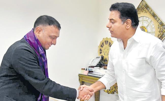 Flipkart CEO Meets KTR - Sakshi