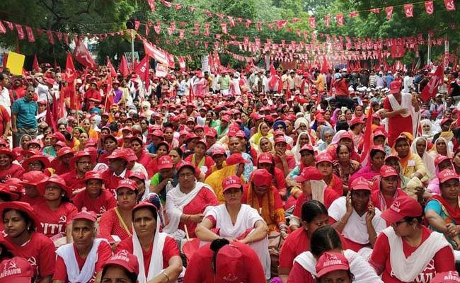Trade Unions March In Delhi - Sakshi