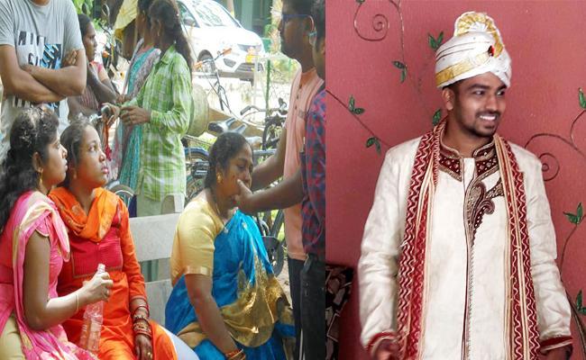 Groom Commits Suicide in Reception Vizianagaram - Sakshi