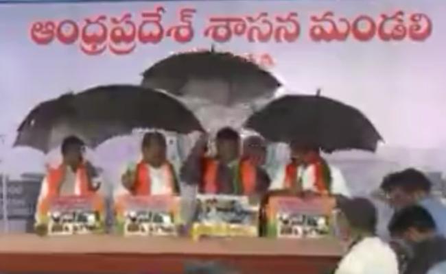 Andhra Pradesh BJP MLAs Protest - Sakshi