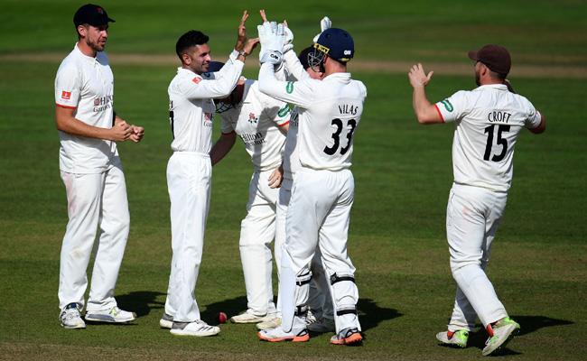 Maharaj Takes Seven As Lancashire Thrilling Tie Against Somerset - Sakshi
