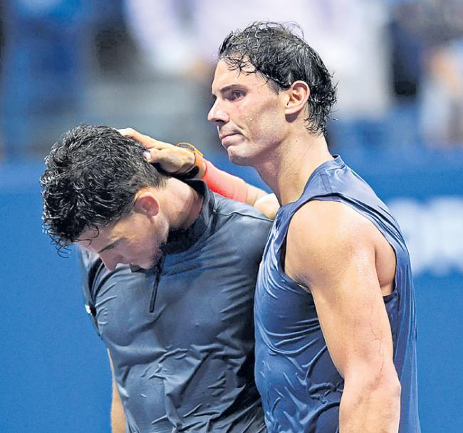 Rafael Nadal reacts to marathon match win with pure class - Sakshi