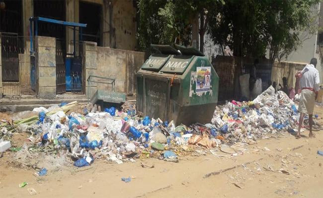 Scrap And Dumping On Roads In PSR Nellore - Sakshi