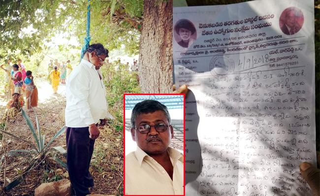 Police Harassments Man Commit Suicide In Chittoor - Sakshi
