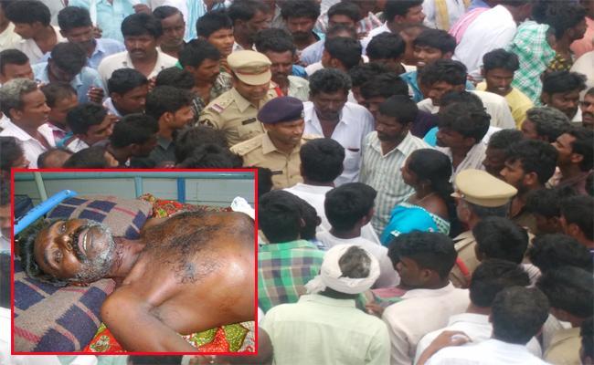 TDP Leaders Attacks On Dalit man In Hospital Prakasam - Sakshi