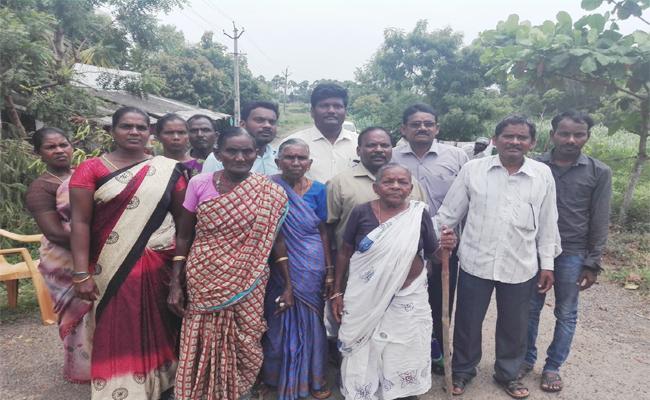 TDP Leaders Grabs Dalit Lands Visakhapatnam - Sakshi