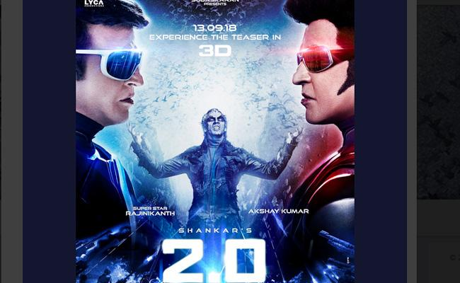Rajinikanth 2.o Teaser Release Date Confirmed - Sakshi