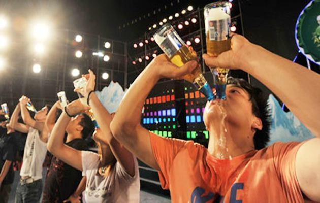 Lorry Driver Life In Risk After Participating Drinking Competition - Sakshi
