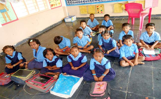 Books Shortage In English Medium Classes Vizianagaram - Sakshi
