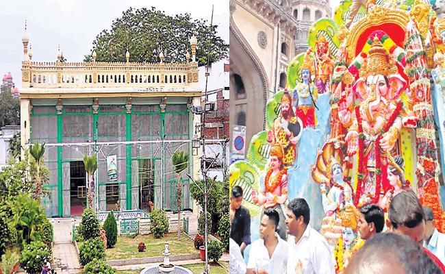 Ganesh Utsav And Muharram Festivals In One Day Difference - Sakshi