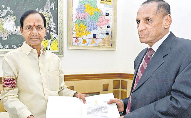 KCR Dissolved Assembly And Continue As Caretaker CM - Sakshi