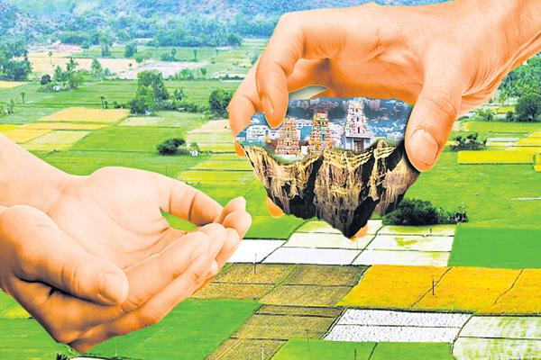 24,614 acres of land swaha - Sakshi