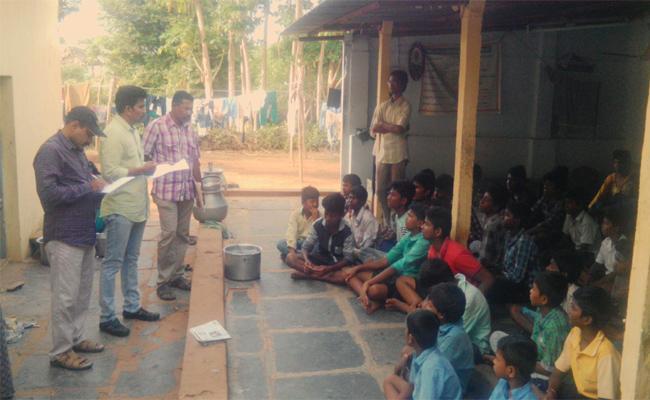 Vigilance Attacks On Welfare accommodation Prakasam - Sakshi