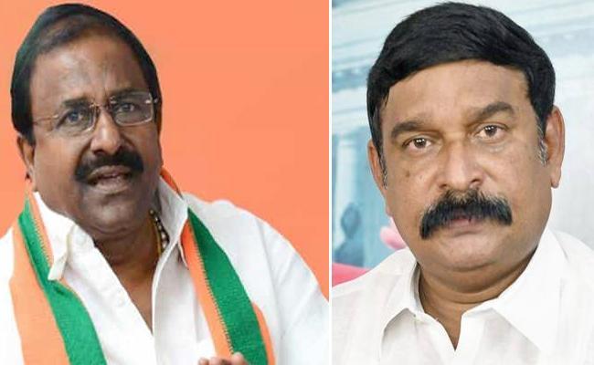 BJP Leaders Somu Veerraju And Vishnu Kumar Slams Chandrababu In Amaravati - Sakshi