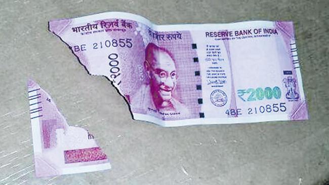 Transfer of shabby banknotes - Sakshi