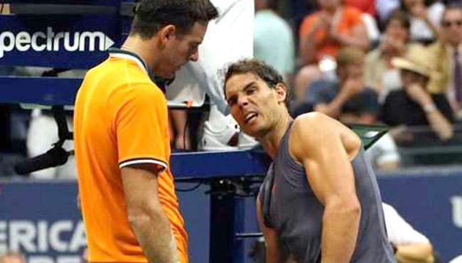 del Potro Reaches Final As Rafael Nadal Retires With Knee Injury - Sakshi
