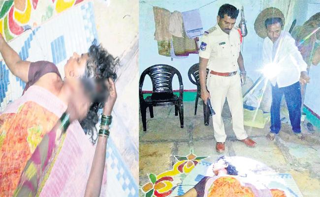 Husband Killed Wife Over Suspension In Rangareddy - Sakshi