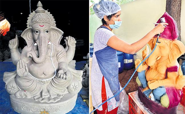 Sand Ganesh For Vinayaka Chavithi Festival hyderabad - Sakshi