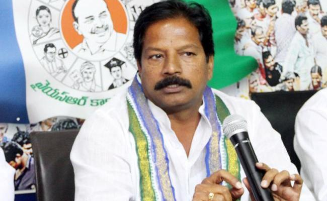 YSRCP MLA Kona Raghupathi Slams Chandrababu - Sakshi